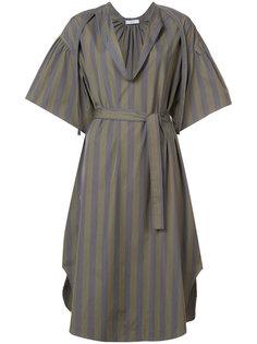 платье в полоску с поясом  Tome