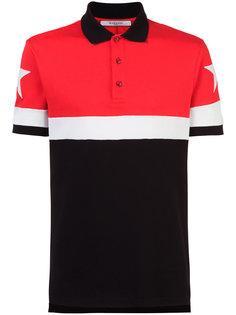 рубашка-поло с панельным дизайном и звездами Givenchy