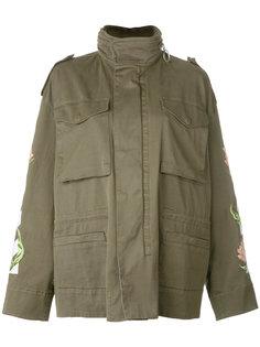 куртка милитари с цветочным принтом Off-White