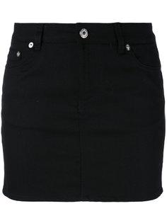 джинсовая юбка с принтом звезд Givenchy
