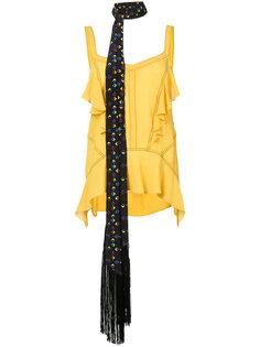 блузка с оборкой  Derek Lam