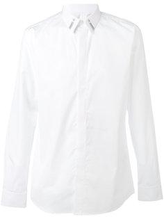 рубашка с вышивкой на воротнике Givenchy