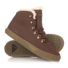 Кеды кроссовки утепленные детские Quiksilver Jax Deluxe Brown