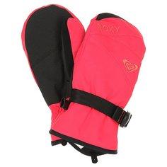 Варежки сноубордические детские Roxy Rxjettygsolmitt Paradise Pink