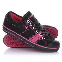Кеды кроссовки низкие Dekline Deuce Black/Magenta