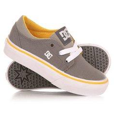 Кеды кроссовки низкие детские DC Trase Tx Tod Grey/White/Yellow