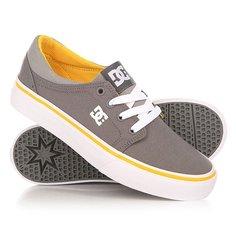 Кеды кроссовки низкие детские DC Trase Tx Grey/White/Yellow