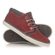Кеды кроссовки высокие детские Quiksilver Griffin Red/Grey