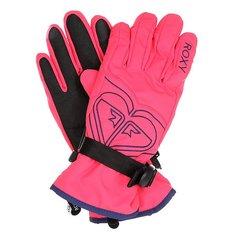 Перчатки сноубордические женские Roxy Popi Gloves Paradise Pink