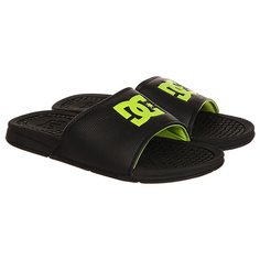 Шлепанцы DC Shoes Bolsa Black/Lime