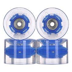 Колеса для скейтборда для лонгборда с подшипниками Sunset Cruiser Wheel With Abec9 Blue 78A 59 mm
