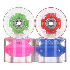 Колеса для скейтборда для лонгборда с подшипниками Sunset Cruiser Wheel With Abec9 Hippy Blue/Green/Red/Pink 78A 59 mm