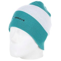 Шапка носок Armour Stripe Beanie Green/White