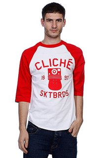 Футболка Cliche Instant Raglan White/Red