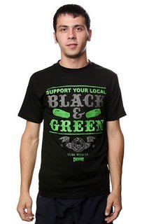 Футболка Creature Black And Green Black
