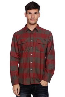 Рубашка в клетку Huf Thompson Buffalo Flannel Dusty Olive/Maroon