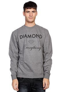 Толстовка Diamond Diamond Everything Crewneck Gunmetal