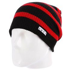 Шапка носок Neff Daily Stripe Black/Red