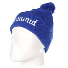 Шапка с помпоном Diamond Diamond4Life Fold Beanie Royal