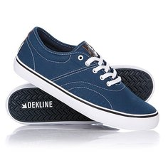 Кеды кроссовки низкие Dekline Bixby Blue/White Cont