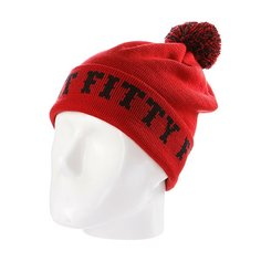 Шапка с помпоном Flat Fitty Ftfy Red