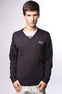 Свитер Zoo York Solid V-Neck Black
