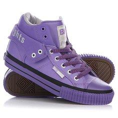 Кеды кроссовки высокие женские British Knights Roco Purple/Light Grey/Purple