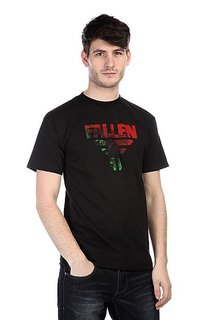Футболка Fallen Insignia Logo Black/Red/Green Acid