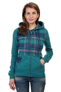 Толстовка женская Zoo York Wilderness Plaid Hoodie Everglade/Heather