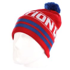 Шапка с помпоном K1X Team Noh Bomel Beanie Red / Navy