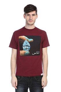 Футболка Diamond Arabic Shining Tee Burgundy