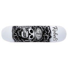 Дека для скейтборда для скейтборда Rebels TNT Fiberglass White 31.75 x 8.1 (20.6 см)