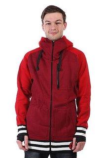 Толстовка сноубордическая Shweyka Exception Zip Red/Bordo
