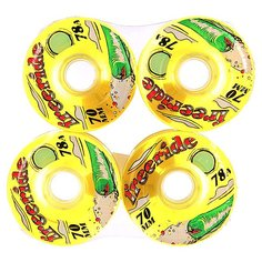 Колеса для скейтборда для лонгборда Sector 9 Freeride 7 Wheels Yellow/Green 78A 70 mm