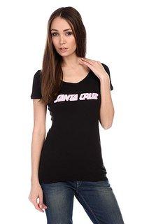 Футболка женский Santa Cruz Pink Strip Black