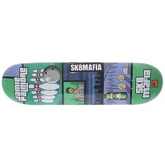 Дека для скейтборда для скейтборда Sk8mafia Palmore Gamer Green/Grey 32.38 x 8.5 (21.6 см)