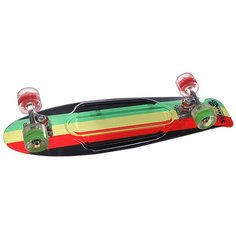 Скейт мини круизер Sunset Rasta Grip Complete Rasta Stripe Deck R/Y/G Red/Green Wheels 7.5 x 27 (69 см)