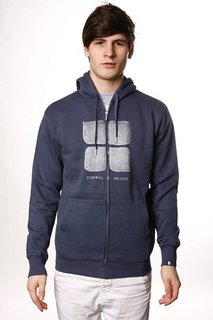 Толстовка Insight Overkill Logo Hood Steal Blue