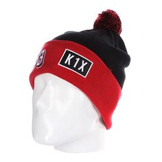 Шапка с помпоном K1X Bommel Beanie Black/Red