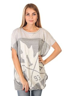 Майка женская K1X Tumbling Leaf Loose Light Grey Heather/Dark Grey Heather