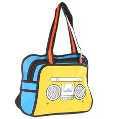 Сумка через плечо женская Jump from paper 2D Radio Edition Yellow/Blue/Black