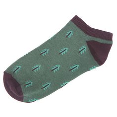 Носки низкие женские Запорожец Ёлки Зеленый