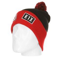 Шапка K1X Bommel Beanie 93 Black/Red