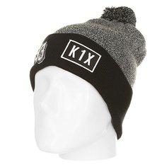 Шапка K1X 93 Bommel Beanie Grey/Black