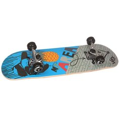 Скейтборд в сборе детский детский Fun4U Cool Pineapple Blue 28 x 8 (20.3 см)