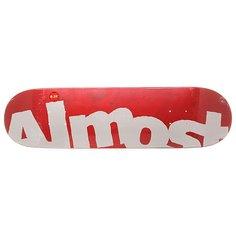 Дека для скейтборда для скейтборда Almost S6 Hyb Side Pipe Red 31.5 x 8.25 (21 см)