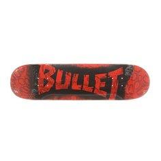 Дека для скейтборда для скейтборда Bullet S6 Sprayed Red 31.6 x 8.0 (20.3 см)