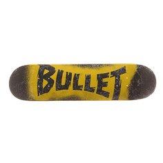 Дека для скейтборда для скейтборда Bullet S6 Sprayed Black 30.7 x 7.8 (19.8 см)
