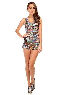 Комбинезон для фитнеса женский CajuBrasil Touch Dress Multi