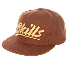 Бейсболка с прямым козырьком Skills 03 Brown